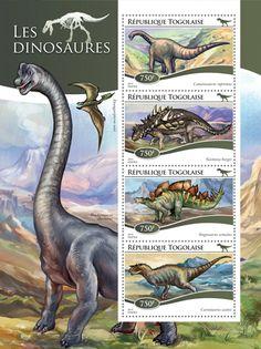 Post stamp Togo TG 15106 aDinosaurs (Camarasaurus supremus, {…}, Carnotaurus sastrei)