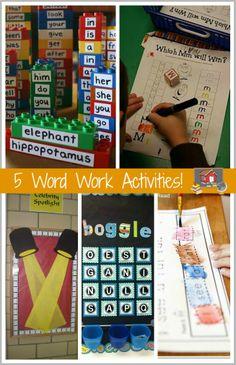 5 Word Work Activities!