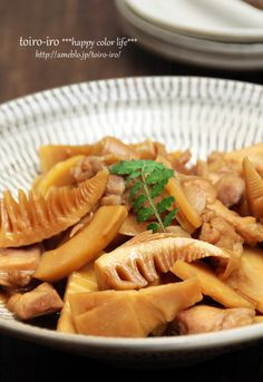 Soy Sauce Simmered Chicken and Bamboo Shoot