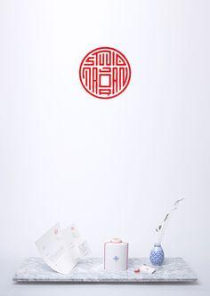 Studio Majoran's identity, mimicking an Asian wax seal with Latin characters