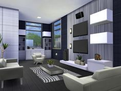 The Sims Resource: Onyx Modern house by Chemy