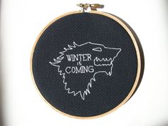 Winter Wolf cross stitch  for a stark reminder of by aliciawatkins, $24.00