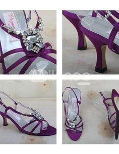 Purple Satin Wedding Shoes on Purple Satin Wedding Sandals   Milanoo Com
