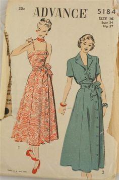 advance pattern,vintage