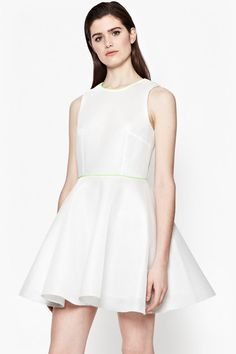 Under-$1K Wedding Dresses That Don't Look Cheap  #refinery29  http://www.refinery29.com/affordable-wedding-dresses#slide-25  Keep it sporty, with a subtle trace of neon (and lots of mesh).