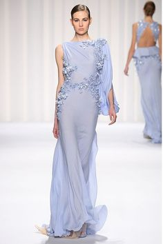 Abed-Mahfouz Couture 2013 aqua dress