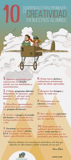10 pautas para despertar la creatividad en los alumnos y alumnas/ Ikasleengan sormena pizteko 10 ideia #Lauaxetaikastola #educación