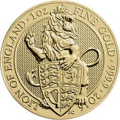 2016 1 oz British Gold Queen's Beast Coins from JM Bullion Gold Coins For Sale, Gold And Silver Coins, Gold Gold, Gold Bullion Bars, Bullion Coins, Pablo Emilio Escobar, 1 Oz Gold Coin, Foreign Coins, Coin Art
