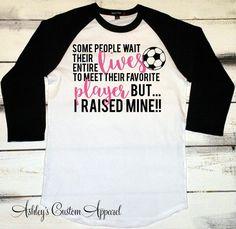 Soccer Mom, Soccer Mom Shirt, Personalized Soccer Tshirt, Proud Soccer Mom, Soccer Player Gifts, Baseball Tee, Womens Soccer Shirt, Favorite