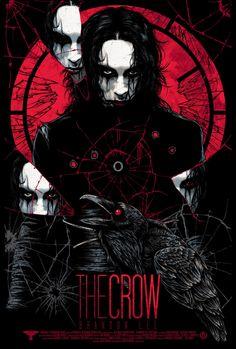 The Crow poster by Rhys Cooper The Crow, Horror Art, Horror Movies, Comic Books Art, Comic Art, Rhys Cooper, Crow Movie, Totenkopf Tattoos, Crow Art