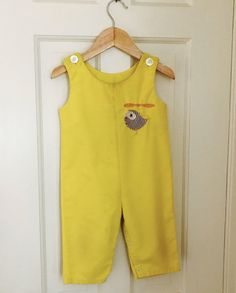 "Vintage Baby Boys Overalls, Vintage Baby Clothes, Baby Boy Clothes, Helicopter  Overalls, Yellow Overalls, Baby Clothing Size 6-12 Months by BabyLadyVintage on Etsy Save 25% off your purchase with promo code ""AMERICA"""