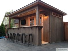 Backyard Shed Bar Plans . Backyard Shed Bar Plans . Shed Diy Tiki Bar Backyard Pool Bar Built with Old Patio Backyard Cabana, Backyard Bar, Pool Cabana, Backyard Sheds, Patio Bar, Hot Tub Patio, Deck Bar, Pool Table, Pool House Shed