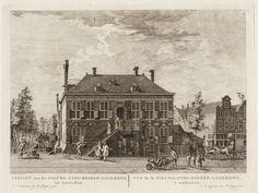 Gezicht van het Nieuwe-Zyds-Heeren-Logement, tot Amsterdam=Vue de la Nieuwe-Zyds-Heeren-Logement, à Amsterdam.