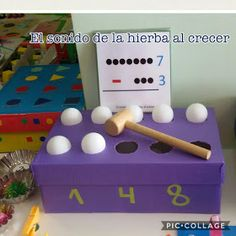 Autismus Arbeitsmaterial: TEACCH: Subtrahieren Box Preschool Curriculum, Montessori Activities, Preschool Classroom, Preschool Learning, Kindergarten Activities, Teaching Math, Learning Activities, Preschool Activities, Arts And Crafts