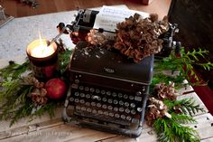 Vintage typewriter Christmas centrepiece - 12 Days Day 7 | Funky ...