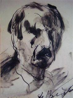 Self-Portrait - George Bouzianis Expressionist Artists, Expressionism, Purple Art, Greek Art, Art Database, Conceptual Art, Painting Inspiration, Paper Art, Sketches