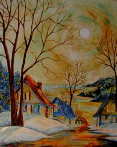 Cliquer pour fermer Barn Pictures, Winter Painting, Its Cold Outside, Les Oeuvres, Folk Art, Pastel, Illustrations, Watercolor, Photos
