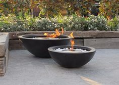 Improve the design and feel of your outdoor entertaining area with an outdoor fire pit from The Outdoor Chef.