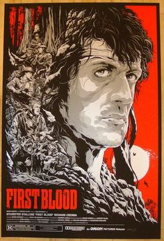 """2013 """"First Blood"""" - Variant Movie Poster by Ken Taylor"""