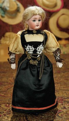 The Memory of All That - Marquis Antique Doll Auction: 83 German Bisque Doll, 1079, by Simon and Halbig with Original Folklore Costume