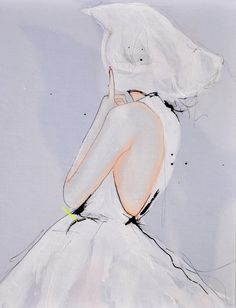 Upon Wind and Rain  #FashionIllustration Art Print by #LeighViner, $28.00