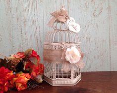 Wedding Birdcage, Rustic Wedding Decor, Birdcage Card Holder, Burlap Wedding, Small Wedding Bird Cage