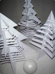Мастер-класс Вырезание: Елочки . Бумага Новый год, Рождество. Фото 2