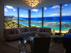 View from new project in Kaka'ako in Honolulu! Contact me for details.
