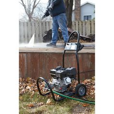 This Ironton® Gas Cold Water Pressure Washer is an all-around cleaner that is ideal for cleaning decks, driveways, siding, lawn mowers and more. The durable steel tube frame offers durability and never-flat tires provide easy mobility. Fall Clean Up, Flat Tire, Driveways, Decks, Lawn, Pressure Washers, Cleaning, Cold, Top Rated