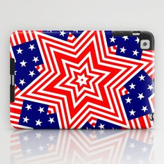 STARS AND STRIPES AGAIN iPad Case by The Griffin Passant - $60.00