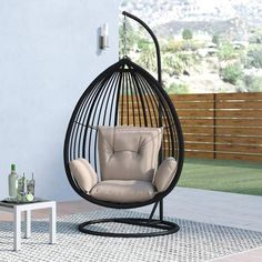 Swing Chair For Bedroom, Egg Swing Chair, Hanging Swing Chair, Hammock Chair, Diy Chair, Swinging Chair, Swing Chairs, Chair Cushions, Hanging Chairs