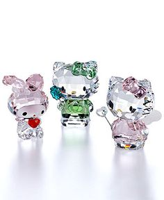 Hello Kitty Swarovski Figurines