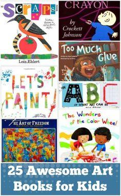 Awesome Art Books for Kids 25 Art Books for Kids. or a bigger cart with a built in bookshelf. Art Books for Kids. or a bigger cart with a built in bookshelf. Art Books For Kids, Childrens Books, Art For Kids, Kid Books, Kids Fun, Preschool Books, Kindergarten Art, Preschool Art Lessons, Hand Kunst