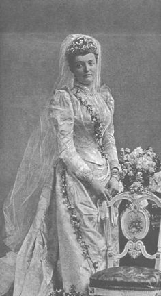 1890 Margarethe of Thurn and Taxis.  She was a descendant of the royal families of Austria, Hungary, Spain, Saxony, Wurttemberg, Saxe-Coburg and Gotha, France, and the Two-Sicilies, as well as other German states.
