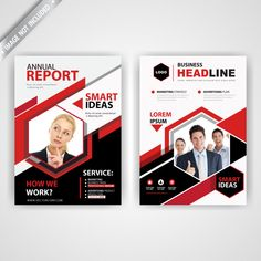 back and font red polygonal flyer Free Vector Layout Design, Print Layout, Flyer Design, Corporate Flyer, Business Flyer, Business Card Design, Letterhead Template Word, Flyer Template, Modele Flyer