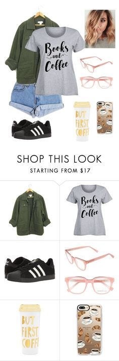 """""""Coffee"""" by marix10 ❤ liked on Polyvore featuring Levi's, adidas, Derek Lam, ban.do, Casetify and plus size clothing"""