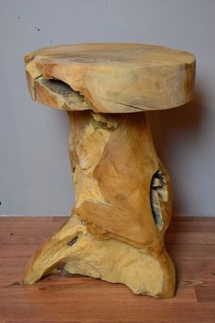 Reclaimed Salvage Teak Root Side Table. Unique, beautiful and artistically hand crafted from salvaged solid teak wood by a professional craftsman who is meticulous about details. Each piece is hand made from exotic solid woods with our craftsmen's individual style to complement your good taste in design and décor. | eBay!