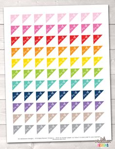 Day Off Triangles Printable Planner Stickers – Erin Bradley/Ink Obsession Designs