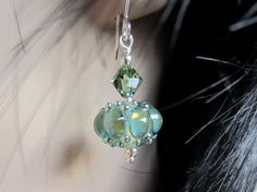 Lampwork Jewels-Glowing Aquamarine by AboveAverageJewelry on Etsy
