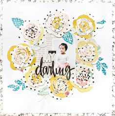 I have SO much love for the layered flowers craft die set in the Confetti Collection. The possibilities are endless and you can create beautiful layered die cut flowers to your hearts content! Literally!! I love how Jessy used them to create a floral wreath on this scrapbook page about her daughter!…