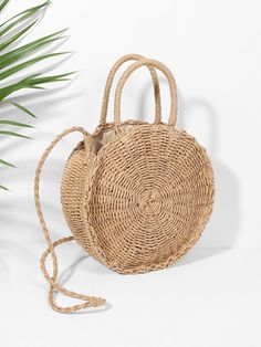 SHEIN offers Round Straw Crossbody Bag & more to fit your fashionable needs. Handbags Online, Online Bags, Bohemia Style, Straw Tote, Vintage Handbags, Medium Bags, Fashion Handbags, Summer Beach, Purses And Bags