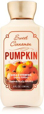 Sweet Cinnemon Pumpkin lotion from Bath and Body Works