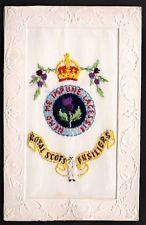 WW1 Regimental Silk Royal Scots Fusiliers Gale & Polden