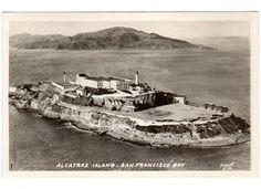 Vintage 1930s Alcatraz Island Prison Photo Postcard 13 by Piggott San Francisco Bay California