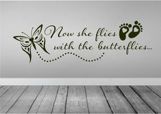 37 overcoming grief quotes with images tattoos! Butterfly Quote Tattoo, Butterfly Wall Decals, Baby Memorial Tattoos, Remembrance Tattoos, Memorial Tattoo Quotes, Miscarriage Tattoo, Miscarriage Quotes, Miscarriage Awareness, In Loving Memory Tattoos