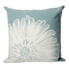 Aqua Antique Medallion Throw Pillow from PureHome....beautiful
