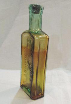 Vintage Dr. Jones Liniment 4 oz Beaver Oil. Antique early 1900s Aqua Glass Medicine Bottle with Cork. nice collectible glass bottle. Cool Man Cave Decor. Nice Gift for Him DanushasCollectibles vintage Etsy Shop