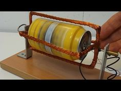 Motor de inducción construido con una lata de refresco. - YouTube