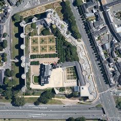 Chateau d'Angers aerial photo Angers France, Château Fort, City Photo, Architecture, Palace, Image, Castle, Houses, France