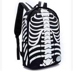 Fashion skeleton printing backpack